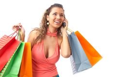 Sexy shopper Royalty Free Stock Photography