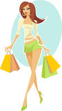 Sexy shopper Stock Photography