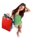 Sexy shopping girl Stock Image