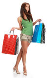 Sexy shopping girl Royalty Free Stock Image