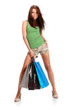 Sexy shopping girl Royalty Free Stock Photography