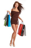 Sexy shopping girl Royalty Free Stock Photo