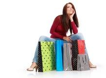 Sexy shopping girl Stock Photography