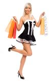 Sexy shopping girl. Stock Images
