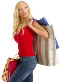Sexy shopping girl Stock Photography