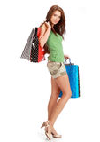 Sexy Shopping woman. Royalty Free Stock Photography