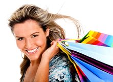 Sexy shopping woman Stock Photography