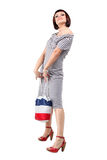 Sexy shopping woman with bag Stock Photography