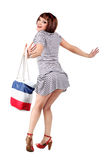 Sexy shopping woman with bag Royalty Free Stock Photography