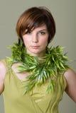 short hair brunette girl Royalty Free Stock Image