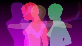 Sexy silhouetdansers vector illustratie