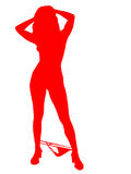 Sexy silhouette Royalty Free Stock Images