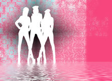 Sexy silhouetten Stock Afbeelding
