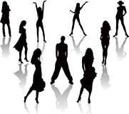 Sexy silhouettes  vector. Sexy fashion silhouettes  vector illustration Royalty Free Stock Photo