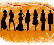 Sexy silhouettes women vector Royalty Free Stock Photos