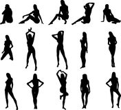 Sexy Silouettes Royalty Free Stock Images