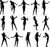 Sexy Silouettes Stock Image