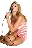 Sexy Singer Stock Images