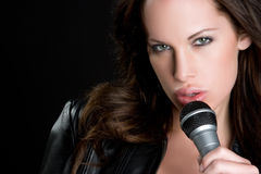 Sexy Singer Royalty Free Stock Photos
