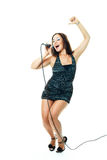 Sexy singer Royalty Free Stock Photo