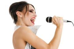 Sexy singer woman Stock Photos