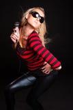 Sexy Singing Girl Stock Photo
