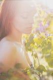 Sexy sinnliche Blumen weiblich Stockbild
