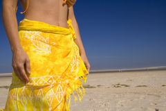 Sexy skirt at the beach Royalty Free Stock Photos