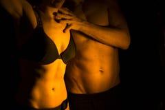 Sexy slim nude couple Stock Photo