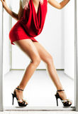 Sexy slim woman legs Stock Photography