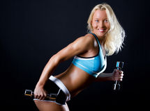 smiling athlete Stock Photo