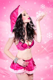 Sexy Snow Girl Royalty Free Stock Images