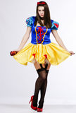 Sexy snow white. Beautiful model wearing a snow white costume Stock Image