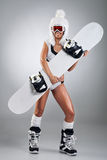 Sexy Snowboarder Royalty Free Stock Image