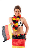 Sexy soccer fan Stock Photography