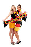 Sexy soccer fan Royalty Free Stock Photo