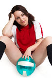 Sexy Soccer fan Royalty Free Stock Photography