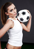 Sexy soccer player, Stock Photography