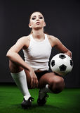 Sexy soccer player Stock Images