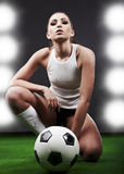 Sexy soccer player, Royalty Free Stock Photos
