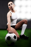 Sexy soccer player Royalty Free Stock Photos