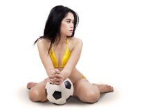 Sexy soccer player Stock Photos