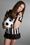 Sexy Soccer Referee Royalty Free Stock Photo