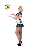 Sexy Soccer Referee Royalty Free Stock Photos