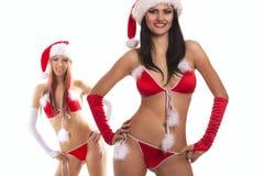 Sexy speelse santas Royalty-vrije Stock Foto's