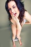 Sexy speld-omhooggaand meisje Royalty-vrije Stock Fotografie