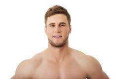 Sexy spiermens stock foto