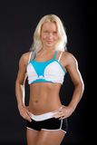 sportswoman is posing Royalty Free Stock Photography