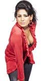 Sexy srilankan model posse on white Stock Photos