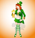Sexy St. Patrick's Girl Stock Photos
